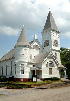 Senoia United Methodist Church, Senoia, Ga...I am lucky..this is my next door neighbor..beautiful little church in a great little town...