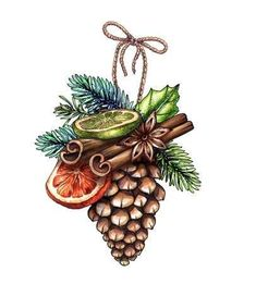 Find Christmas Illustration Pine Cone Festive Ornament stock images in HD and millions of other royalty-free stock photos, illustrations and vectors in the Shutterstock collection. Christmas Scenes, Christmas Mood, Christmas Pictures, Vintage Christmas, Christmas Crafts, Christmas Decorations, Christmas Ornaments, Watercolor Christmas Cards, Christmas Drawing