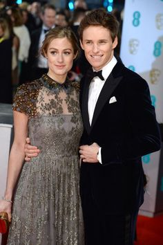 Then there was Eddie Redmayne and his new wife Hannah Bagshawe, and he spent the entire red carpet with his arm tightly around her. | 13 Photos Of Cute Couples At The BAFTAs To Melt Your Cold, Dead Heart