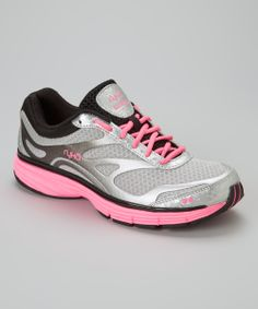 Look at this Gray & Pink Illusion Running Shoe by Ryka Air Max Sneakers, Sneakers Nike, Fleet Feet, Ryka Shoes, Illusions, Nike Air Max, Running Shoes, Workout, Grey