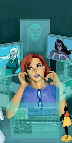 Barbara Gordon, Batgirl, Oracle by Phil Noto So naturally, when I got my new laptop, it was going to be ORACLE themed (what else? JARVIS?)