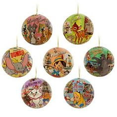 World of Disney Ornament Set | Disney StoreWorld of Disney Ornament Set - Give your tree a holiday gift. Seven decoupage ornaments each feature a classic Disney movie. Christmas will be more fun with stars of Bambi, Alice in Wonderland, Aristocats, Jungle Book, Pinocchio and Dumbo hanging around.