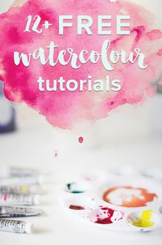 12 free watercolour tutorials. Get started watercolouring today!
