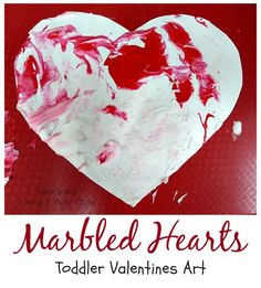 Toddler Valentine Art - Teaching 2 and 3 Year Olds