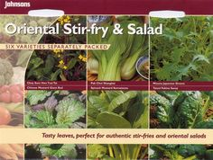 Johnsons - Pictorial Pack - Vegetable - Oriental Stir-Fry & Salad Collection
