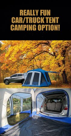 With a quick 15 minute set-up time, this spacious Sportz Tent allows you to catch some Z's in the cargo area of your SUV or Minivan while using the tent as an extra living space! Bugs at dinner time will no longer be a problem when you dine(click to continue) #camping #tent #hiking #tactical #outdoors #campingfood #campinghacks #hikinghacks #sleepingbag #campingmusthaves #hikingandcamping #campinggear #campingtents #campingglamping #campingsurvival #bigtents #tactical #offthegrid Camping Must Haves, Camping List, Camping Glamping, Camping Recipes, Camping Outdoors, Camping Survival, Outdoor Survival, Camping Meals, Survival Tips