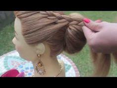 Прическа Плетение косы с круглым валиком
