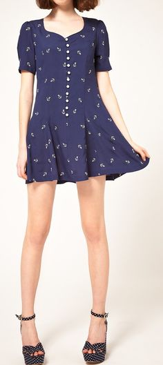 Anchors Dress // love the buttons