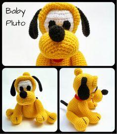 """Baby Pluto Amigurumi - FREE Crochet Pattern / Tutorial ༺✿ƬⱤღ http://www.pinterest.com/teretegui/✿༻"
