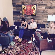 Our @lennyletter team are some of my personal heroes and I think they could be yours too: @dstfelix @jess_lenny @geometricsleep @crystalmeers (and not pictured: @bennyletter @audreygelman) They are working away for our September launch! And every time you sign up at lennyletter.com their boobs grow a little (JK... Or am I...) by lenadunham
