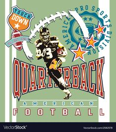 Quarterback Football Vector Image On