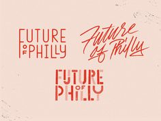 Future Philly Future Philly by Vincent Conti Popular Font Design, Graphic Design Typography, Lettering Design, Identity Design, Logo Type Design, Brand Identity, Brand Design, Brochure Design, Visual Identity