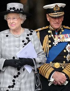Golden oldies: Prince Philip with Queen Elizabeth