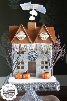 "painting glitter houses | DIY Glitter House, ""A Grateful Home"" - The Polka Dot Chair"