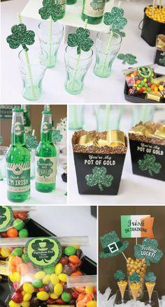 St. Patrick's Day Ideas - Full of Blarney Party | BigDotOfHappiness.com #BigDot