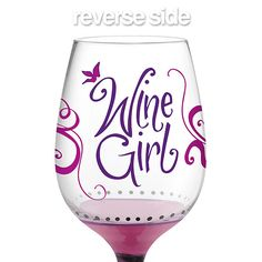 The Wine Girl Hand-Decorated Wine Glass is made with 100% non-toxic paint.