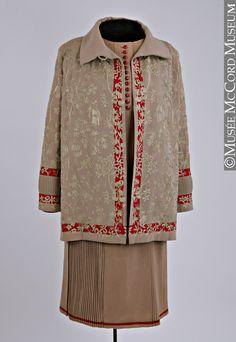 * Ensemble composé d'une robe et d'une veste Jean Patou 1926-1927