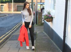 Adding a bold colour to your outfit can really brighten any day! Peexo personal style.