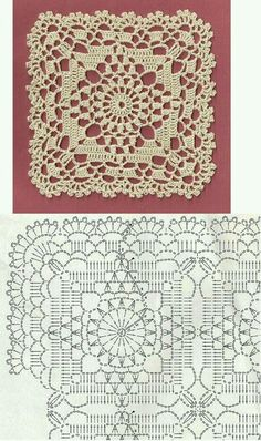 Crochet Lace Bedspread Square With Edging