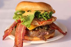 Branch out from a burger with just bacon and American cheese