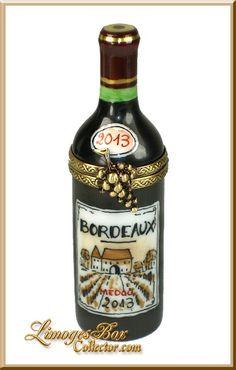 Bordeaux Wine Bottle Limoges Box - Beauchamp