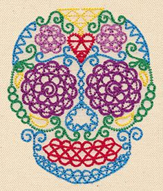 Sassy Sugar Skull | Urban Threads: Unique and Awesome Embroidery Designs