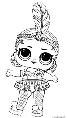 Coloriage Showbaby Glamour LOL Doll Dessin A Imprimer
