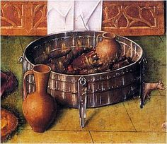 """""""""""Brazier"""""""" Need to find what painting this came from. Heating jugs as well as the space."""