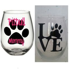 Hey, I found this really awesome Etsy listing at https://www.etsy.com/listing/235622431/cute-wine-glass-set-i-love-my-pitbull