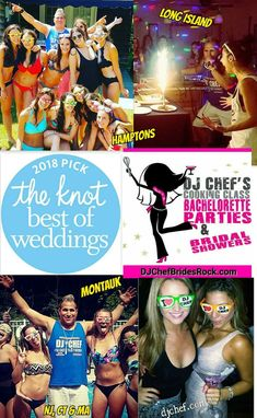 Dj Chef Bachelorette Party Hamptons Cooking Cl Long Island Montauk Nj New Jersey Bride Wedding Ideas