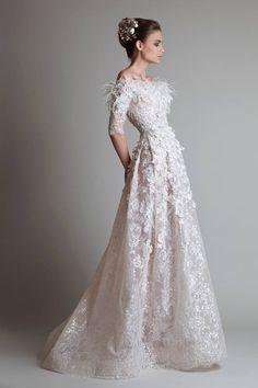5 Timeless Wedding #Dresses from Krikor Jabotian. To see more wedding fashion trends: www.modwedding.com