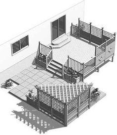 L'Ecuyer. Heron Modulo. Deck en kit complet. Celui-ci, environs 6 000.00$. Peut être modifier au choix. #deckbuildingplans