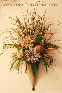 unusual flower arrangements | ... Wall Pocket Arrangement | Unique Floral Arrangements By Rose Fisher