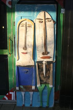 Door..two large faces