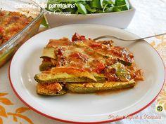 Zucchine+alla+parmigiana+con+prosciutto+e+formaggi