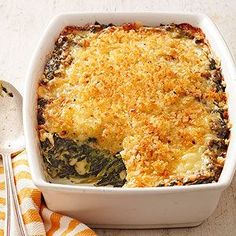 Buttery Spinach-Havarti Bake From Better Homes and Gardens, ideas and improvement projects for your home and garden plus recipes and entertaining ideas.
