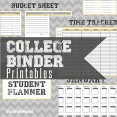 A Typical English Home: Free College Binder Printables