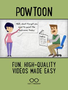 Powtoon: Fun, High-Quality Videos Made Easy - Powtoon is an online presentation tool that enables you and your students to create professional-quality animated videos in just minutes. All you need is an internet connection, a microphone, and a desktop or laptop computer.