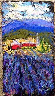 Lavender Fields Redux - Original Fine Art for Sale - © by Kristen Dukat