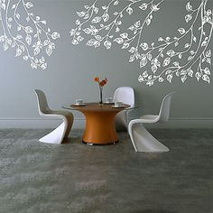 """Large Blowing Branches Vinyl Wall Decal Sticker Measures from Left to Right; 38"""" Wide by 45"""" High, 60"""" Wide by 40"""" High, and 48"""" Wide by 55.5"""" High. Available in the color of your choice!! We now have"""