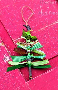 Scrap ribbon ornament!