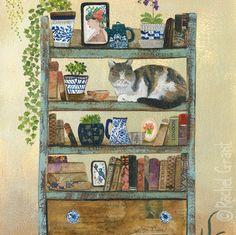 Cat Shelfie Golden Hour by Rachel Grant+
