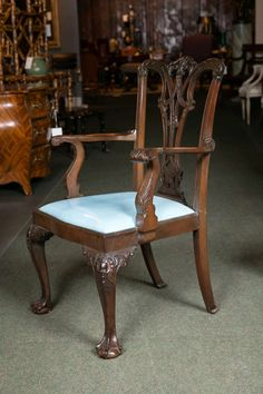 Cuban Mahogany English Dining Chairs image 3