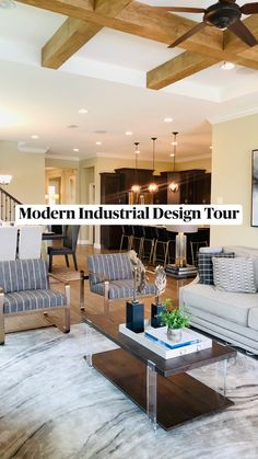 Decor, Farmhouse Kitchen Decor, Interior Design Living Room, Home Design Floor Plans, Home Room Design, Luxury Home Decor, Interior Design Kitchen, Interior Design, Modern Industrial Interior