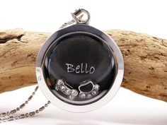 Kette Floating Charms Hund personalisierbar von Beads-for-Beginners auf DaWanda.com