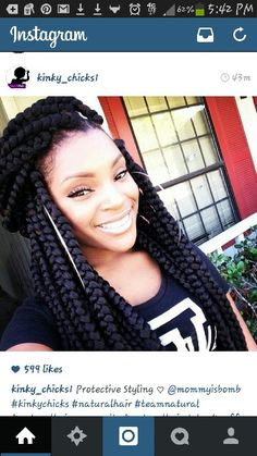 Chunky braids# protective style for the summer heat#