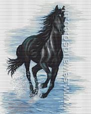 Buy Black Horse Cross Stitch Kit Online at www.sewandso.co.uk