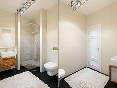 Душевая комната / Интерьер таунхауса в стиле минимализм