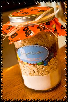 Cowgirl Cookies for Halloween in Layered Gift Jar by PortellsPlace, $10.00