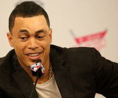 Giancarlo Stanton answers a question during the... | The Third Eye